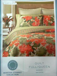 Martha Stewart Palmetto Glade Cotton Full Queen Quilt