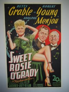 Sweet Rosie OGrady Betty Grable Robert Young Original Movie Poster
