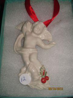 Beautiful Irish Angel Cherub Christmas Ornament Hillgrove Ireland