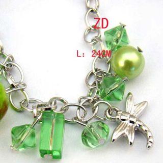 Lampwork Glass Pearl Beads Charm Bracelet Fashion Jewelry