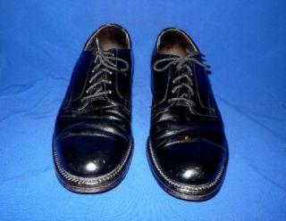 Offers? 8 D Vtg Hanover Smooth Oxford Dress Shoes Black leather mens