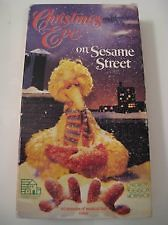 Christmas Eve on Sesame Street (1987) VHS Big Bird Oscar the Grouch
