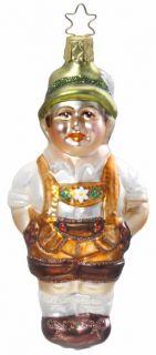 Inge Glas Oktoberfest Hans Bavarian Boy German Blown Glass Christmas