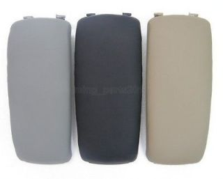 02 06 Audi A4 S4 A6 Black Gray Beige Leather Console Armrest Cover Lid