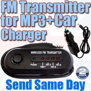 FM Radio Car Wireless Transmitter Laptop PC DVD  Player Mobile