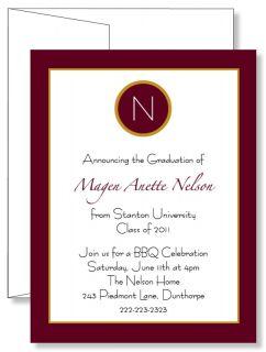 Personalized Contempo Graduation Announcement Invitations Any Color