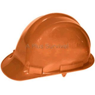 Orange Hard Hat with 4 Point Ratchet Lightweight ANSI Certified OSHA