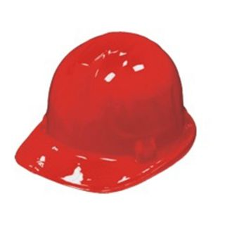 12 Red Boys Safety Construction Hard Hat Party Helmet