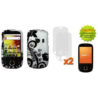 Black Vine 2D Protector Hard Case Cover 2X Screen Protector