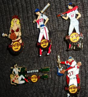 Hard Rock Cafe Boston Red Sox 2007 Championship Set of 5 LE Pins