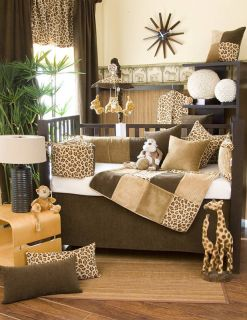 Glenna Jean Tanzania Jungle Safari Crib Bedding Set 12P