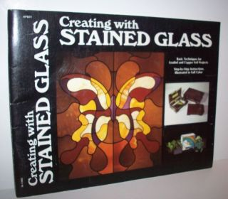 Creating with Stained Glass James Glick Pattern Instruction Book Vtg