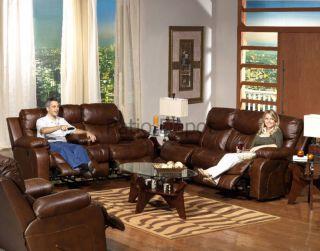 Leather Sofa Loveseat Swivel Glider Recliner Set Dallas