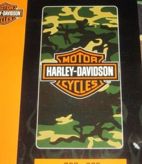 New Camo Camouflage Harley Davidson Motorcycle Large Bath Beach Towel