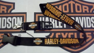 Harley Davidson Car Motorcycle Lanyard Keychain Holder Badge ID Phone