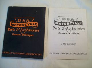 Harley Davidson Parts Accessories Catalog from D A Motorcycle Owosso