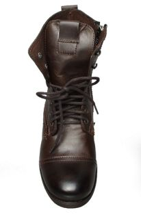 Steve Madden Mens Boots Gramm Dark Brown Leather Sz 11 M