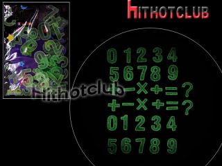 Glow in The Dark Numbers and Marks Stickers Kids 1355