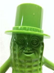 Vintage Mr Peanut Planters Lime Green Bank