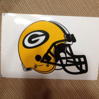 Green Bay Packers 2012 NFL Helmet Sticker 3 5 x 4 Die Cut