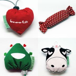 Cute Green Eco Reusable Tote Bags Heart Candy Cane Frog Cow C
