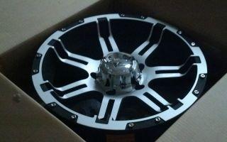 18 Granite Alloy GA11 Vrock Overdrive Black Machined Wheel 18x9 5x150