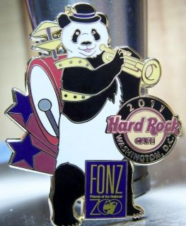 Hard Rock Cafe Washington DC Fonz Panda 2 One Panda Band Pin Brand New
