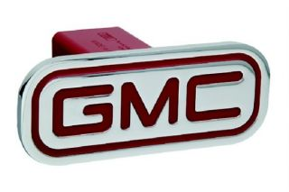 GMC Sierra Denali Yukon XL Chrome Hitch Cover Aluminum Billet Red 2