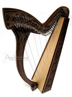 NEW 29 STRING ROOSEBECK IRISH CELTIC MINSTREL HARP FULL LEVERS ~ FREE