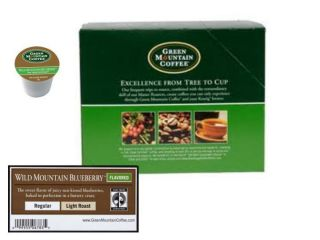 Green Mountain Coffee Wild Mountain Blueberry 24 Count K Cup Box