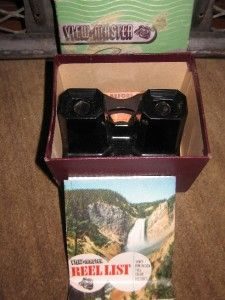 Vintage Sawyers VIEW MASTER Color Stereoscope Viewer Box & 1950 Reel