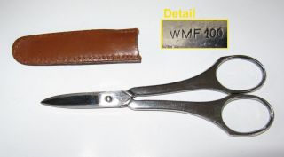 WMF 100 Silverplated Grape Scissors 120mm with Tip Case Good Condition