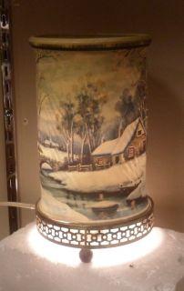 Vintage 1957 Econolite Motion Lamp Winter Scene