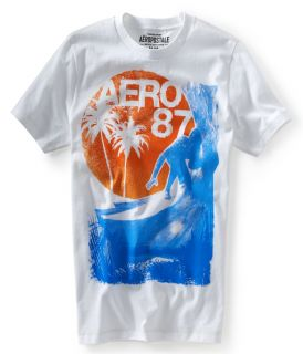 Aeropostale Mens Aero 87 Catching Waves Graphic T Shirt