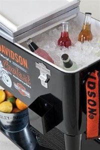 Harley Davidson Rolling Cooler New Heavy Duty Powder Coated Insulated