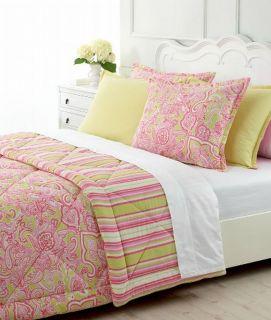 Martha Stewart Greenwich Paisley Full Queen Comforter New