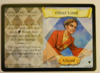 Harry Potter Trading Card Game TCG Quidditch Cup Oliver Wood 18 80