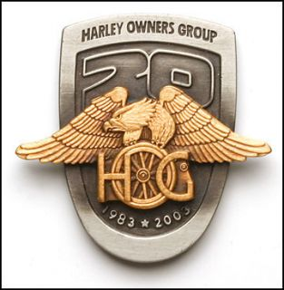 1983 2003 100th HOG 20th ANNIVERSARY GOLDEN EAGLE VEST HAT JACKET PIN