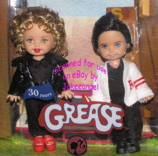 Barbie Kelly Tommy Dolls Grease 30th Anniversary Set NRFB Sandy Danny