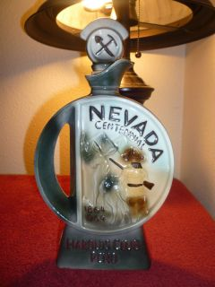 Jim Beam Harolds Club Nevada   Silver Decanter