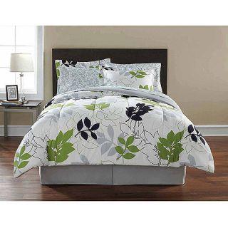 +Gray Leaf COMFORTER+SHEETS+SHAM SET Dorm Teen Kids Bed Room Bedding