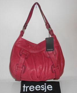 Handbag Magenta Pink Italian Leather Harper Hobo Tote Bag $495