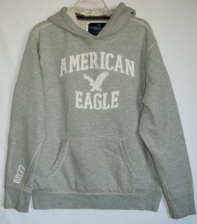 American Eagle Gray Distress Pullover Hoodie Sweatshirt Mens Womens