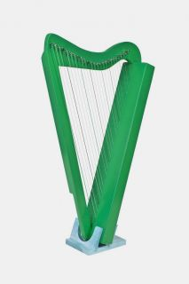 New Hand Made 26 String Green Harpsicle Irish Celtic Harp w Book DVD
