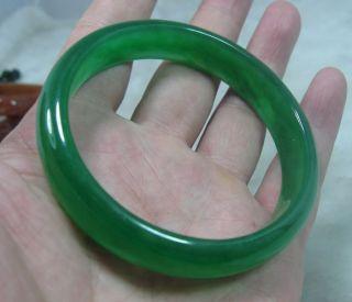 Nature Beautiful Green Jade Jadeite Bracelet Bangle 69mm