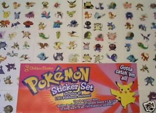 New Pack 216 Pokemon Birthday Party Favor Stickers Lot