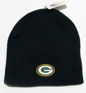 Green Bay Packers NFL Black Knit Beanie Hat Cap Winter Football New
