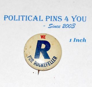 Nelson Rockefeller Pin Pinback Button Political 1968