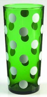 Forest Green 19 oz Tall Tumbler Polka Dot Green Glass Anchor Hocking