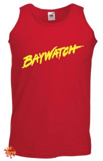 Baywatch Hasselhoff Cult TV Retro Cool T Shirt Vest